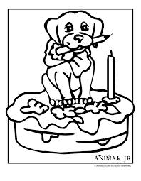 Birthday Puppy Printable Coloring Pages