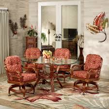 Dinette Sets With Caster Chairs by Leikela Papaya Medley Tropical Dining Furniture Set