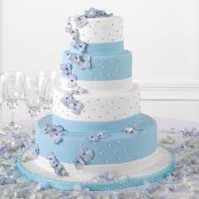 Beautiful White And Blue Wedding Cakes 11