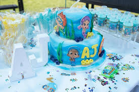 Bubble Guppies Cake Decorations by Line Up Line Up It U0027s Bubble Guppies Party Time One Balanced Mama