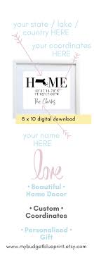 Coordinates Sign Housewarming Gift GPS PRINTABLE Latitude Print Longitude New Home Decor House
