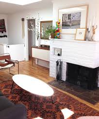 Hilary Sontag Living Room Redesign White And Wood Mid Century 3