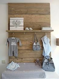 Rustic Baby Nursery Decor With Hook And Shelf Storage Unit