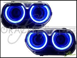 15 17 dodge challenger led dual color halo rings headlights bulbs