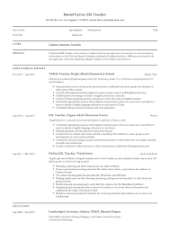 ESL Teacher Resume Sample & Writing Guide | Resumeviking.com Hairstyles Master Of Business Administration Resume Cv For Degree Model 22981 Tips The Perfect One According To Hvard Career 200 Free Professional Examples And Samples For 2019 How Create The Perfect Yoga Teacher Nomads Mays Masters Format Career Management Center Electrician Templates Showcase Your Best Example Livecareer Scrum 44 Designs 910 Masters Of Social Work Resume Mysafetglovescom Sections Cv Mplate 2018 In Word English Template Doc Modern