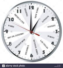 Wall Clock With Popular City Names From The World For Travel Agencies