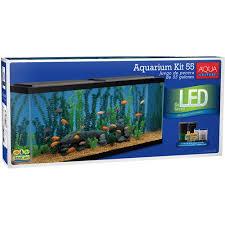 aqua culture 55 gallon aquarium starter kit with led walmart