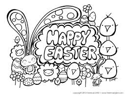 Stunning Happy Easter Coloring Pages