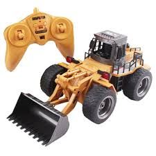 RC Construction Front Loader Die-Cast Model Truck 1:18 Bulldozer ...