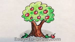 How to Draw Apple Tree
