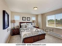 modernes schlafzimmer möbel in hell zimmer mit fenster