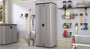 Suncast Outdoor Vertical Storage Shed by Suncast Tall Storage Cabinet Youtube