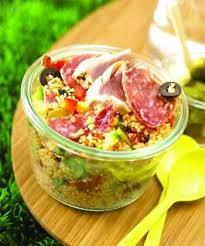 cuisiner thon frais recette taboulé de saucisson sec cornichons olives et thon frais