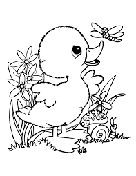 Baby Duck And Friends Coloring Page