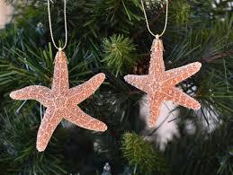 Seashell Christmas Tree Ornaments by Beach Wedding Favors Beach Decor Starfish Christmas