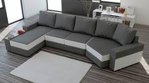 canapé d angle but gris et blanc canapé angle droit convertible tissu chiné gris anthracite et