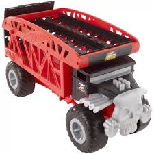 100 Hot Wheels Truck Transport Monster Bone Shaker Monster Mover