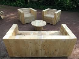 Pallet Garden Table Complete Set Furniture Instructions