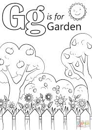 Letter G Is For Garden Coloring Page Printable Pages Click The Preschool Educations