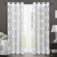 Geometric Pattern Grommet Curtains by Amazon Com Exclusive Home Curtains Rio Burnout Sheer Grommet Top
