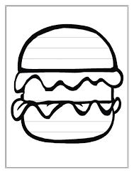 Burger Writing Template First Grade Printable Pdf Download
