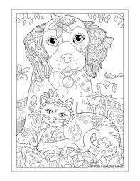 Marjorie Sarnats Pampered Pets Dog Cat And Butterfly Cute Coloring PagesAdult