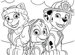 Fascinating Paw Patrol Coloring Page Amazing Pages Picture And Chase Cartoons
