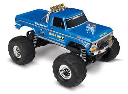 100 Bigfoot Monster Truck Toys Traxxas 360341 Remote Control Blue For Sale