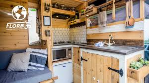 100 Vans Homes DIY VAN CONVERSION With INDOOR OUTDOOR SHOWER Has Everything A