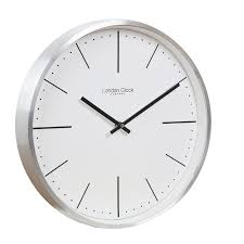 CLASSIC THEMED WALL CLOCK WITH BRUSHED METAL FINISH