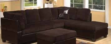Chocolate Corduroy Sectional Sofa by Acme 55975 Connell Sofa Sectional With Pillows Chocolate Corduroy