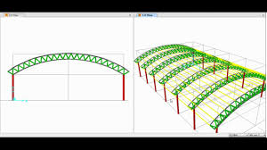 104 Bowstring Truss Design Sap2000 Modeling Analysis And Of Space Triangular Arch 01 02 Youtube