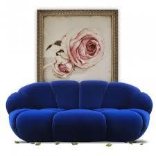 bretz sofa kautsch zweisitzer blau auf seltenen geigenhals füßen