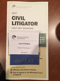 Attorney Lee Hutton on Twitter
