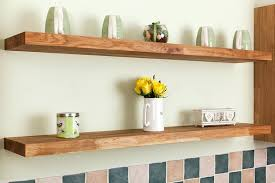 Wood Floating Wall Shelves Worktop Wooden