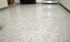 Light Terrazzo Flooring In A Kitchen