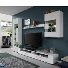 anbauwand jump weiß weiß glanz 4 teilig mdf schrankwand wohnzimmer wohnwand