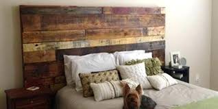 Diy Pallet Headboards Fabulous Rustic Headboard Made Out Of Pallets Its So Unique Easy To Make