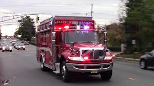 100 Hazmat Truck Clifton Fire Department 1 And 2 Responding 11715