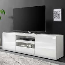 lowboard hochglanz weiss wohnzimmer fernsehtisch tv schrank