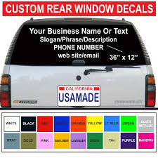 100 Rear Window Graphics For Trucks 36 X 12 CarTruck The Company