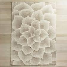 Rose Tufted Ivory Rug