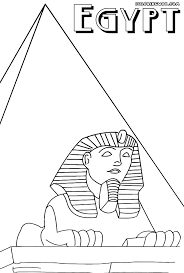 Egypt Pyramid Picture To Color