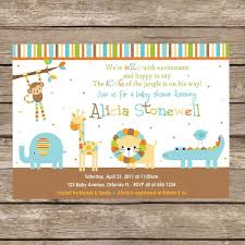 Printable Boy Or Girl Or Neutral Jungle Zoo Animals Baby Shower