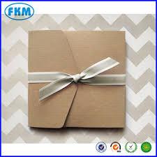 60 Large Ribbed Kraft Pocket Fold Envelopes Rustic Wedding Invitations