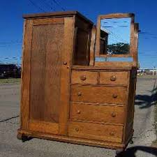 Tiger Oak Dresser With Swivel Mirror by Art Of Junking Gallery 1