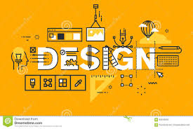 Thin Line Flat Design Banner Graphic Design Solutions Stock