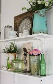 Beautiful Vignette On Shelves Kitchen Shelf DecorKitchen