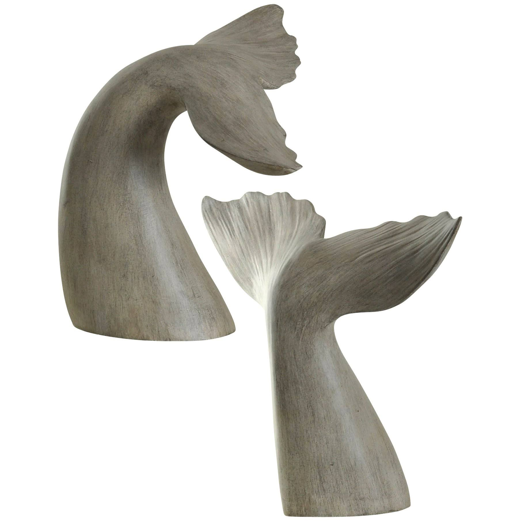 Gwg Outlet Set of 2 Gray Whale Tail Book End in Melville Finish