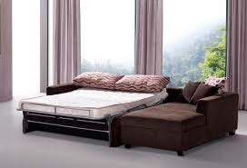 Best Fabric For Sofa Cover by Best Modern Sectional Sleeper Sofa Queen With Brown Fabric Cover
